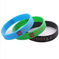 Wholesale Fashion Jewelry Jelly Silicone Bracelets Turret Games Silicone DOTA Bracelets Bangles Wristbands Blue Black Green Sport Waistband SV027392