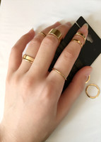 Wholesale Fashion Jewelry Vintage Punk Women Beach Unique Carving Tibetan Gold Silver Plated knuckle Ring Set Set Midi Finger Rings Band Rings