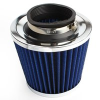 Wholesale 3 quot mm and mm Height Car High Flow Cone Cold Air Intake Filter Cleaner Car Accessories HA10263