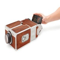 Wholesale Smartphone Projector Cardboard Portable Cinema Mobilephone Projector for Android IOS Mobile Cell Phone Projector Convenient To Carry
