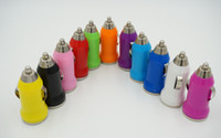 car mp4 player - 11Colorful Bullet Mini USB Car Charger V mA Universal Adapter for iphone S Cell Phone PDA MP3 MP4 player mobile i9500 s3 m7 l36h