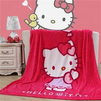 red plaid fabric - 2015 Hotsell Soft Mantas Summer Plaids and Bedspreads Blanket on The Sofa Red Hello Kitty Bedding Sets for Girls Flannel Fabric