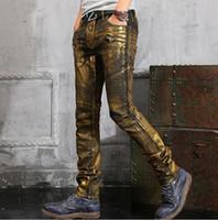 black jeans - 2016 Hot Balmain vintage Jeans Spray on Hiphop Cargo Pants zipper pocket Demin Jeans Robin jeans for men silve Golden Black