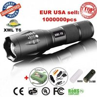 Wholesale G700 ALONEFIRE E17 A100 CREE XM L T6 led Lumens Mini Zoomable Flashlight Torch light lamp with x18650 Rechargeable batteries