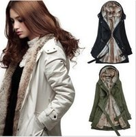 Wholesale Hot Sale Faux fur lining women s winter warm long fur coat clothes