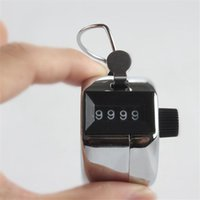 Wholesale silver Hand Tally Counter metal counter Manual counters Pressing the manual counter People Counting with retail box