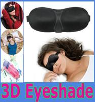 Wholesale 3D Sleep Rest Travel Eye Mask Sponge Cover Blindfold Shade Eyeshade Sleep Masks with retail package