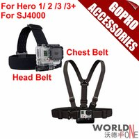 Wholesale Action Camera Accessories Gopro Strap Harness Adjustable Elastic Chest Belt Head Belt For GoPro Hero SJ4000