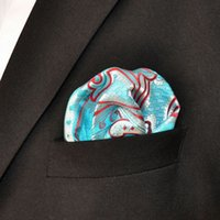 azure patterns - YH2 Silk with handmade Azure Multicolor Floral Pattern Mens Pocket Square Fashion Pocket Square