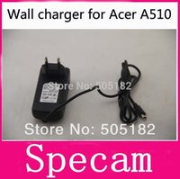 Wholesale V A AC Travel Home Wall Charger Power Adapter For Acer Iconia Tab Acer Iconia A701 A510 A700 Tablet pc charger