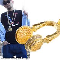 hip hop chain - Hip Hop Rapper Fashion Cool Punk Hippie Headset Earphone Pendant Necklace Chain K Gold Silver Plated For Men