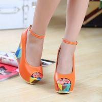 Wholesale 2015 Fashion New Bohemia Colorful Wedges Summer Wedding Shoes High Heels Sandle Ladies Women s Wedges Platform shoes