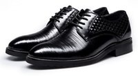 Wholesale The new business suits British style leather men s shoes lace pointed shoes embossed breathable pointed genuine leather dress shoes