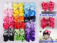 alligator hair clip - inches Solid Grosgrain Ribbon Hair Bows with alligator Clip