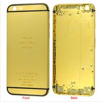 apple iphone dubai - 24K Gold Dubai Plating Back Housing Cover Skin Battery Door For iPhone S plus PS Luxury Limited Edition Kt Golden iphone6S Bezel Frame