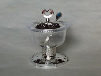 Wholesale Arabia Exquisite Imitation metal base Goblet circular Sugar bowl