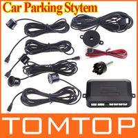 Wholesale 12V Car Parking system Reverse Backup Radar Sound Alert Sensors silver or Black dropshipping