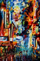 beautiful broadway - night broadway modern art for sale beautiful Landscape Painting High quality Hand painted