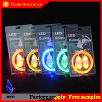 2pcs = 1 paire de mode 3ème génération 4ème génération LED party disco dance Lumière de lacet clignotante vers le haut des lacets de chaussures Lacets de laser