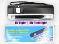 al por mayor antorcha de luz negra-SKU259 AloneFire DL 01 de mano de luz UV de luz negra + blanco linterna de la luz de la antorcha