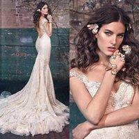 galia lahav - Galia Lahav Bridal Spring Wedding Dresses Stunning Mermaid Lace Wedding Dresses V Neck Backless Court Train Wedding Dresses