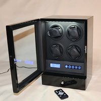 Wholesale Luxury Hightl Quality Wooden Rotors Slient watch winders for RLX with LED light LCD Display Remote Control