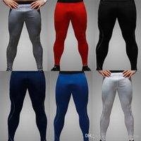 Wholesale 2015 Mens Thermal Compression Under Base Layers Skinny Long Pants Tights Leggings men sports casual pants