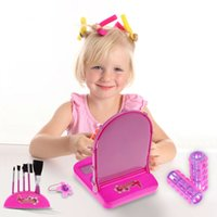 Wholesale New Baby toys Girls Beauty Dressing Box Make Up Pretend Play Toy Set Kids Makeup Game Toy Chilren gifts