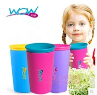 silicone cup lid - wow kids drinking cups multicolors options Genuine Wow Cup original good quality for Kids with Freshness Lid Spill Free Drinking Cup m437
