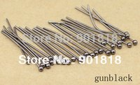 Wholesale 0 mm bag jewelry findings gold plated ball head Pins findings F352