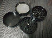 Molinillo de hierbas tamaño molinillo de fumar CNC mezcla dientes cnc moledora de metal tabaco amoladora 55mm 4 partes diseña ENVÍO LIBRE de DHL