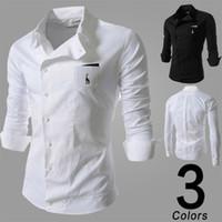 al por mayor camisas de envoltura-Camisas para hombre Camisas ocasionales calientes cómodas y del abrigo Camisas largas masculinas calientes y camisas del negocio delgadas