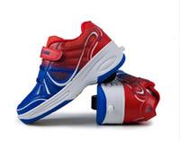 sneakers single wheel shoes - 2015 Brand Boys Girls Heelys Children Heelys Child Roller Shoes Outdoor Sport Sneakers Size Single Wheel Heelys Shoes
