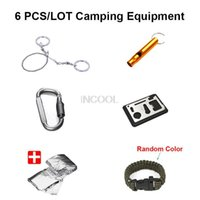 band blankets - Paracord Bracelet Band Whistle Wire Saw Hiking Carabiner Card Knife Thermal Blanket Outdoor Camping equipment Emergency Survival