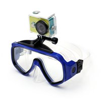 Wholesale Diving Mask Xiaomi Action Camera Accessories Scuba Diving Snorkeling Silicone Tempered Glass Goggles for Xiaomi Xiaoyi Camera