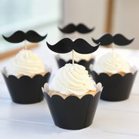 Wholesale Hot sale Lovely beard decoration Paper cupcake wrappers Party supplies