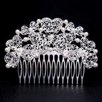 Wholesale Fashion Handmade Style Beaded Women Wedding Hair Comb Jewelry Crystal Lady s Silver Plated Head Wear Accessory Jewelry