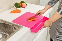 Wholesale New Creative foldable cutting board antibacterial cutting board kitchen chopping vegetables basket with removable cutting board