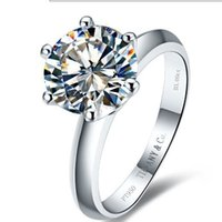 Wholesale Platinum Plated CT synthetic SONA Diamond Engagement rings for women sterling silver ring Weeding ring