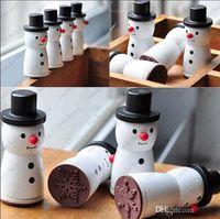 Wholesale Cute Wooden Snowman Stamp Snowflake Gift Scrapbooking Card Making Craft DIY