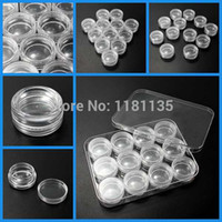 Cheap Excellent New 12x9x1.6cm Plastic Box For Jewelry Beads Pills Storage & 12 Round Organizer Containers Jars Bottle Free Shipping order<$18no t