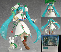 bell models - Hatsune Japanese Anime Miku Figma Snow Miku Snow Bell ver PVC cm Action Figure Collectible Model Toy Kids Toys for Children Doll