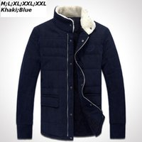 add corduroy - Fall New Thick Winter Warm Corduroy Coat Man Cotton Coats Outwear Parkas Jaquetas Men s Clothing add wool COAT