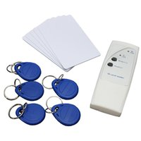 Wholesale Top Quality New Portable Handheld KHz RFID Copier Duplicator Keyfobs Tags each Writable tags Writable Cards