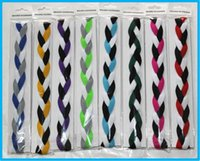 Wholesale Non Slip Fashion mini Braided Yoga Headband Wigs Sports Elastic Braided Headband for women girl free DHL