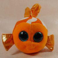 big eye goldfish - IN HAND NEW TY BEANIES BABIES BOOS STUFFED ANIMAL BIG EYES Glitter eyes Goldfish SAMI quot PLEASE READ Plush doll