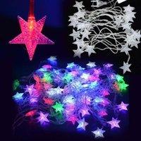 Wholesale 5M LED Pentagram String Fairy Cool Light Christmas Wedding Party Decoration Xmas tree lights holiday led fairy lights fixtures