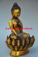 amitabha statue - COLLECTIBLE TIBETAN NEPAL AMITABHA SHAKYA MUNI BUDDHA GILT BRONZE STATUE WR0423