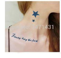 art faith - Temporary Tattoo Stickers Temporary Body Hip Waist Arm Art Supermodel Stencil Designs Waterproof Always Keep The Faith Tattoo