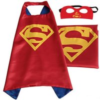 Wholesale WITHOUT Mask New Arrival Children Superhero Capes Superman Batman Spiderman Kids One Side Cape in stock